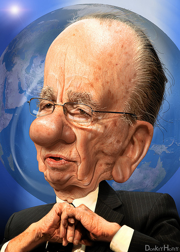 Caricature of Rupert Murdoch. Image source: http://www.flickr.com/photos/donkeyhotey/5605687303/